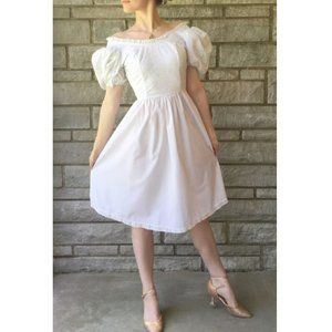 Vintage Thank Heaven Poofy-Sleeved Dress
